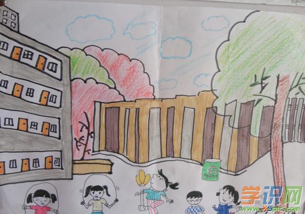 我的校园绘画作品