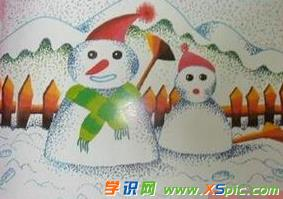 获奖的冬天手抄报图片-走进冬天