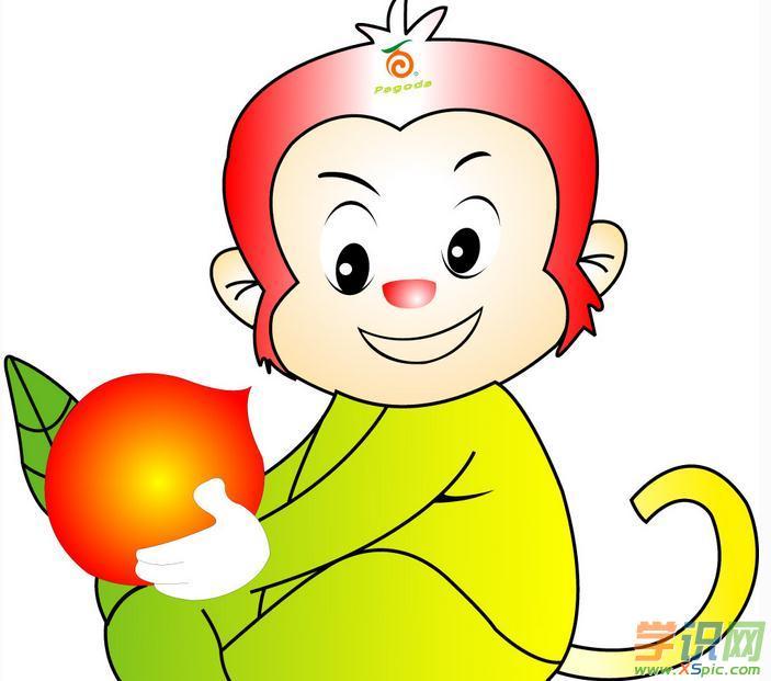 可爱小猴子绘画图片欣赏