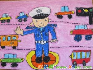 小學生文明交通的繪畫作品有哪些
