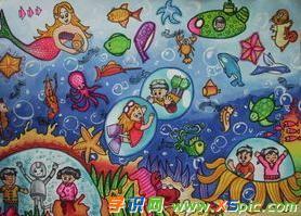 儿童美人鱼世界画画图片精选