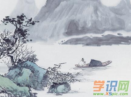 简单山水中国画图片
