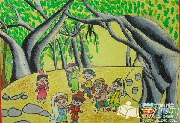 儿童画画蜡笔画图片作品