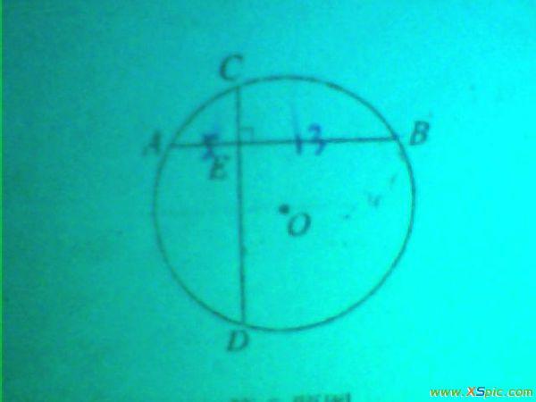 在圆O中,弦AB垂直于CD,垂足为E,AE=5,BE=1