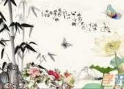 竹子山水画图片欣赏