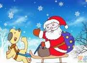 圣诞老人绘画作品图片