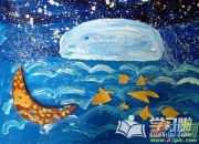 小学生简单油画棒美术图画