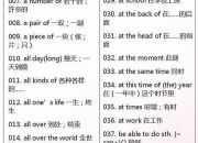 """初中3年167条""""万能""""英语短语"""
