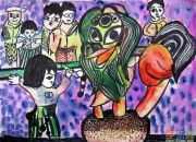 春节情景图画