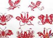 蝴蝶剪纸图案大图欣赏