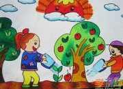 儿童风景画作品图片_儿童风景画作品精选