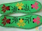 刺绣鞋垫作品图片