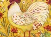 鸡油画图片