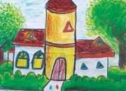 儿童绘画房子图片简单笔画
