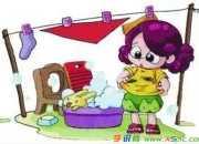 学洗红领巾小学三年级作文